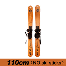 High quality ashtree wooden skiing two boards child snow boards