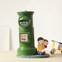 Creative British Style Decoration Home Furnishing Mailbox Resin Craft Overs Gift Cabinet Decoration