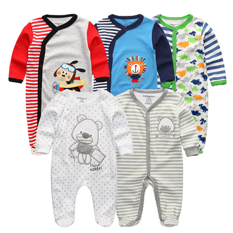 Bodysuit Baby Girl Clothes Newborn Clothing Sets Baby Boy Clothes Long Sleeve Ropa Bebe O-Neck Cotton 5 PCS/lot