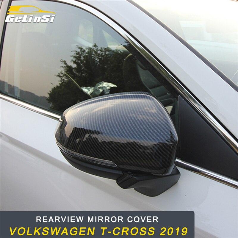 GELINSI rétroviseur couverture protège-garniture cadre autocollant accessoires extérieurs pour Volkswagen T-CROSS 2019 style de voiture