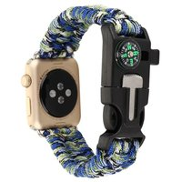 Colorful Mixed Sports Woven Nylon Rope Bracelet Strap Watch Band For IWatch Apple Replacement Sports Nylon