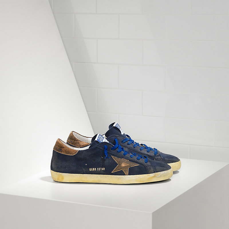 Golden Goose Womens Superstar Sneakers With Leather - Golden Goose Outlet