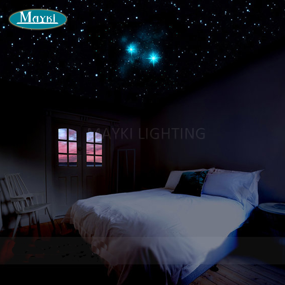 Maykit Wholesale 32w RGB Multi Color LED Fiber Optic Lighting DIY Fiber Starry Sky Ceiling Kit Light Magical Sky Of Stars Inside optic fiber light kit 32w twinkle starry sky ceiling light 32w rgb ir for decoration project floor light underwater lighting