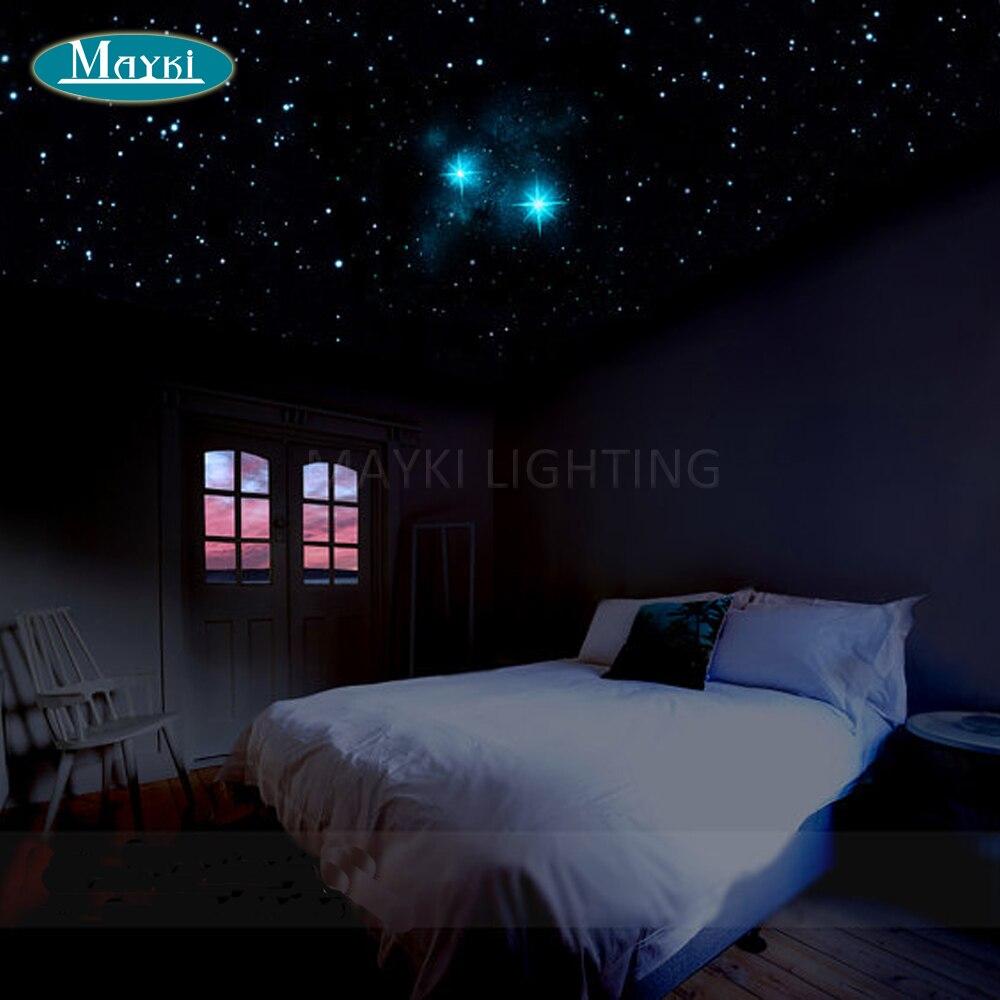 Bedroom ceiling lights stars - Maykit Wholesale 32w Rgb Multi Color Led Fiber Optic Lighting Diy Fiber Starry Sky Ceiling Kit