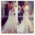 2017 Luxury Sexy Lace Beach Wedding Dress Saudi Arabia Sweetheart Appliqued Casamento Bridal Dress Gown vestido De noiva SL-W353