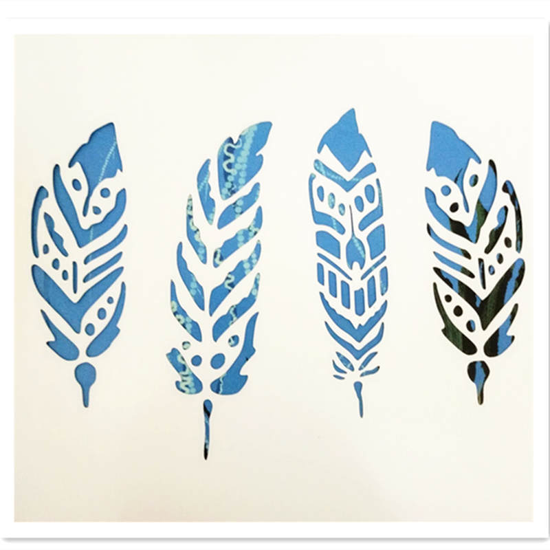 Reusable Feather Stencils For Card Making Stamping Gift