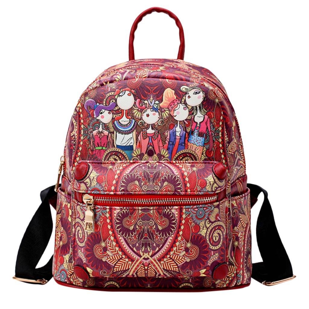 9a1085b679 Pelle Moda Delle Zaino Bolsa Adolescenti Morbida Kawaii 2019 Per Borse  Scuola Verde Vintage Le rosso Lusso Ragazze Del Sacchetti Donne ...