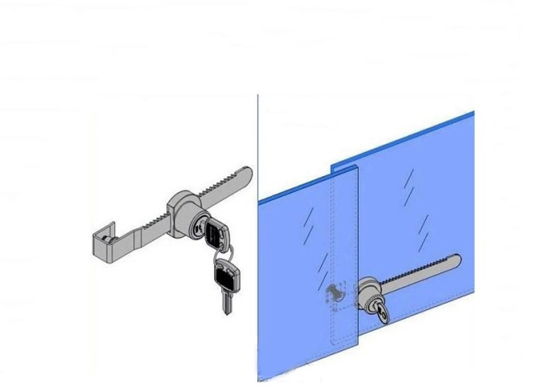 Ratcheting Ratchet Lock For Glass Sliding Door Showcase Display Case Slide In Furniture Accessories From On Aliexpress Com Alibaba Group