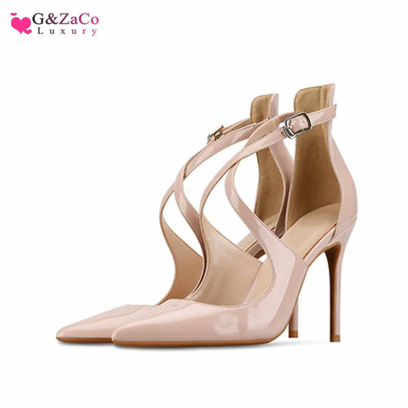 US $26.87 45% OFF|G&Zaco Spring Silk High Heels Shoes Women Pointed Thin Heeled Satin Elegant Pumps Black Nude High heeled Fashion Female Shoe 33 in