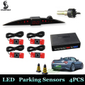 New Car LED Parking Sensor 13mm/22mm Monitor Auto Reverse Backup Radar Detector System + Backlight Display + 4 Sensors Wholesale
