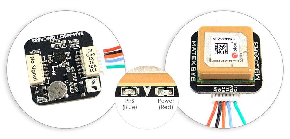 Image 2 - Предпродажа; matek Systems M8Q 5883 Ublox SAM M8Q gps & QMC5883L модуля компаса для квадрокоптера с дистанционным управлением небольшой гоночный Дрон с видом от первого лица с большим радиусом-in Детали и аксессуары from Игрушки и хобби