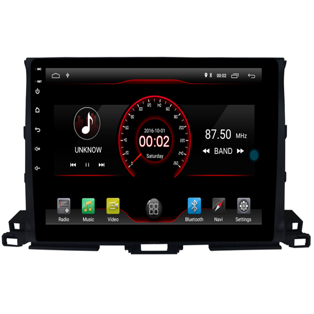 2G RAM 16 ROM 1024*600 quad Core Android 9.1 Car DVD GPS Radio for Toyota HIGHLANDER 2014 2015 2016 2017 2018 Head Unit music image