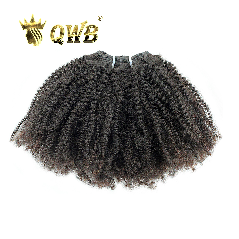 QUEEN WEAVE BEAUTY LTD QWB Coily Curly Free Combination 14 22 Brazilian Virgin Hair Nature Color