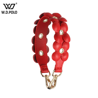 WDPOLO New Fashion Women Handbags Strap Short Flower Design Handle For Bags Belts Chic Lady Shoulder Strap C588