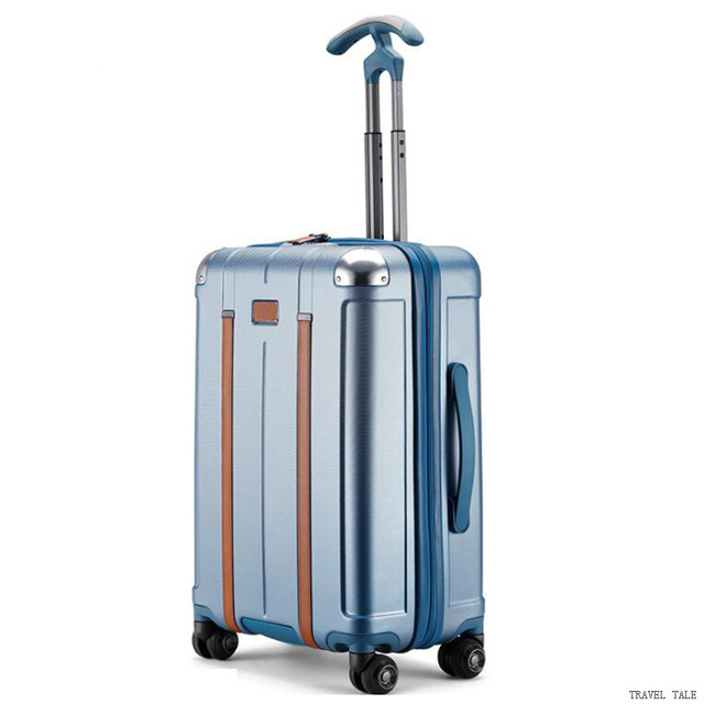 "TRAVEL TALE new men and women spinner 20"" trolley suitcase 24"" abs rolling luggage bags for traveling 2"