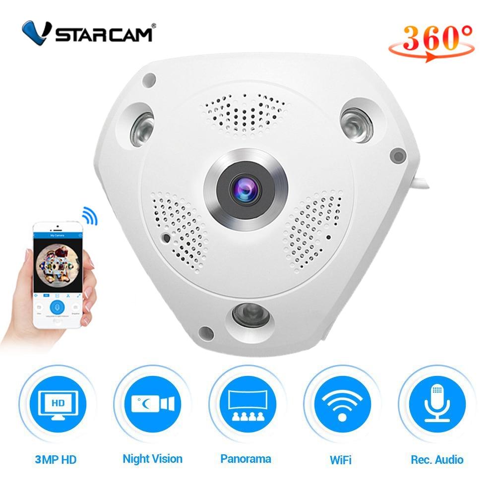 Vstarcam C61S 360 Camera IP 3MP Fish Eye Panoramic 1080P WIFI CCTV 3D VR Video IP
