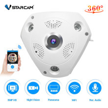Vstarcam 360 Camera IP 3MP Fish Eye Panoramic 1080P WIFI PTZ CCTV 3D VR Video IP Cam Micro SD Card Audio Remote Home Monitoring(China)
