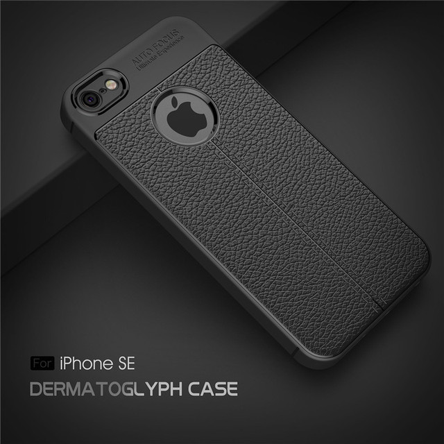 a4324955fd1b30 Beworlder For Apple iphone 5S Case iphone 5 Case Back Cover Full Protective  Lichee Pattern Soft TPU Phone Cases For iphone SE
