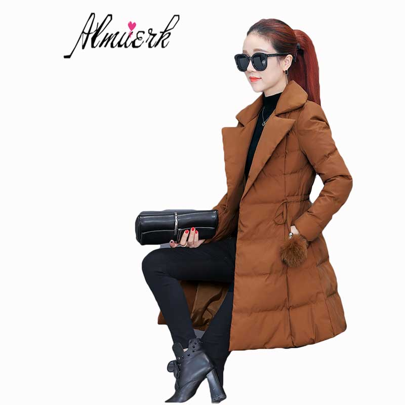 Winter women's Jacket Large size cotton long-sleeved women Down cotton jacket Korean Slim was thin jacket coat female tide Z033 pregnant women coat autumn and winter cotton fashion long section slim was thin feather cotton clothing thickened cotton jacket