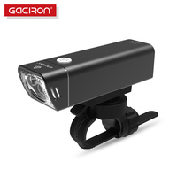 Gaciron Bicycle Headlight Built In 2500mAH Battery USB Charge 600 Lumens 9 Hours Runtime Side Visible