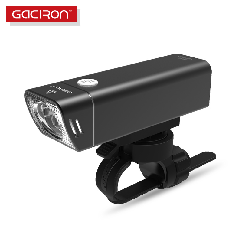 Gaciron bicicleta linterna incorporada 2500 mAh batería USB carga 600 lúmenes 9 horas duración lado Visible ciclismo frente iluminación