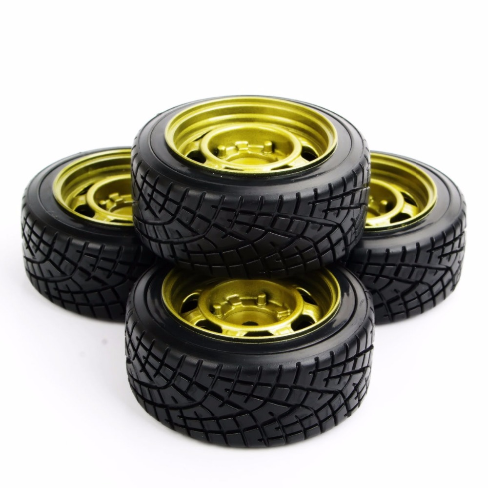 RC Drift Tires Wheel Rim Model Toys For  HSP HPI 1/10 On-Road Car Model Accessory PP0290+PP0147   4pcs/set