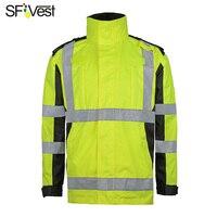 SFVest теплые зимние Защитная куртка со светоотражающими полосками парка масло разрывая RESISITANCE непромокаемая ветрозащитная ветровка Бесплат