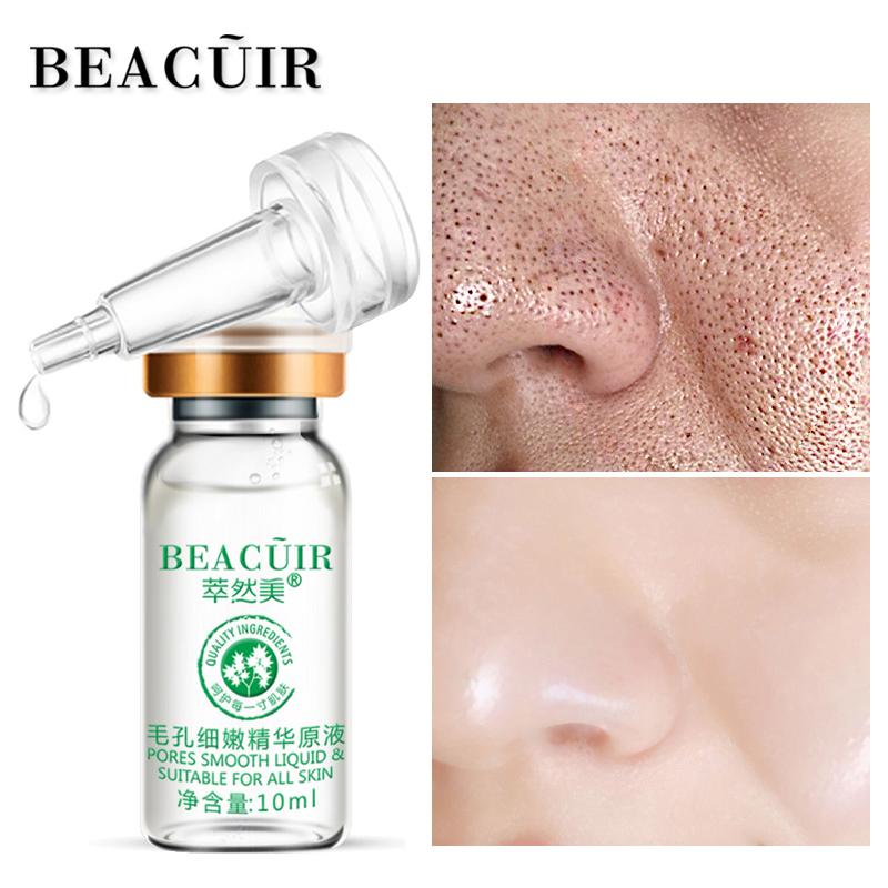 BEACUIR Face Serum Hyaluronic Acid Shrink Pores Essence liquid Moisturize Whitening Facial Care Anti-Aging Anti-Wrinkle Brighten(China)