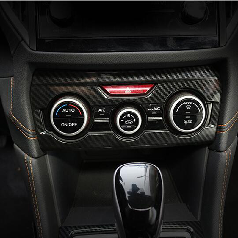 Carbon Fiber ABS Chrome Car Interior All Kinds of <font><b>Accessories</b></font> Cover Trim Molding For <font><b>SUBARU</b></font> <font><b>XV</b></font> <font><b>2018</b></font> Car Styling <font><b>Accessories</b></font> image