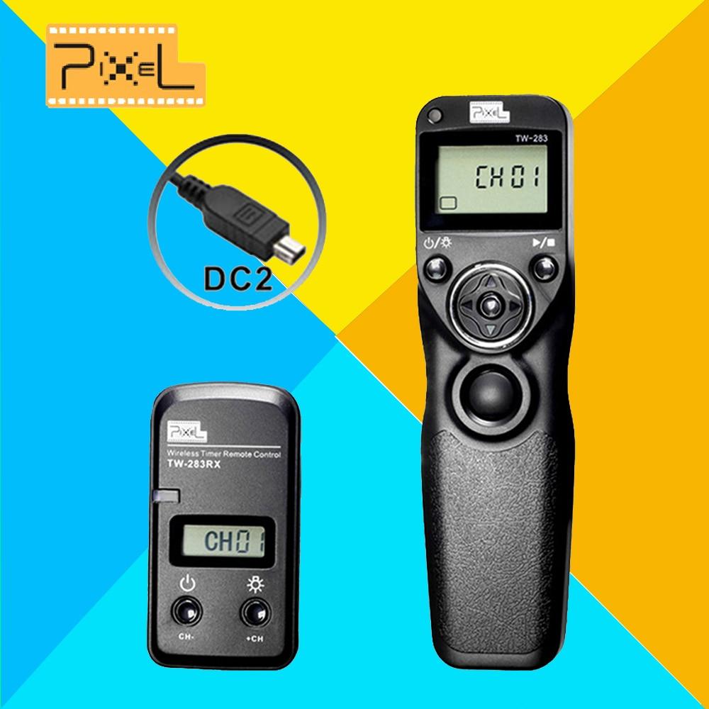 Pixel TW283 TW-283 DC2 Wireless Timer Remote Control For Nikon D750 5200 D3100 D5300 D610 D600 D5500 D90 D3300 Shutter Release meyin rs 802 dc2 wired remote shutter release for nikon d600 d90 more black 90cm cable