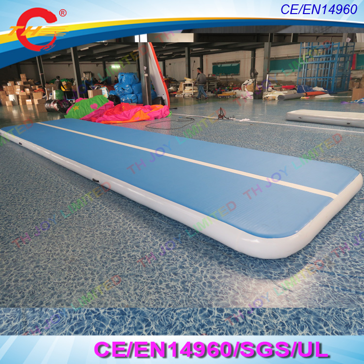 free shipping cheap 6x2m blue inflatable gymnastics air track gym tumble air mattress. Black Bedroom Furniture Sets. Home Design Ideas