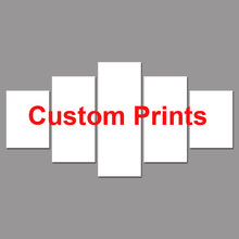 Drop Shipping Customized Prints Painting Custom Made Canvas Picture Frame 5 Panel Modular Home Decor PENGDA(China)