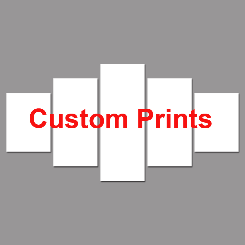 Drop Shipping Customized Prints Painting Custom Made Canvas Picture Frame 5 Panel Modular Home Decor PENGDA