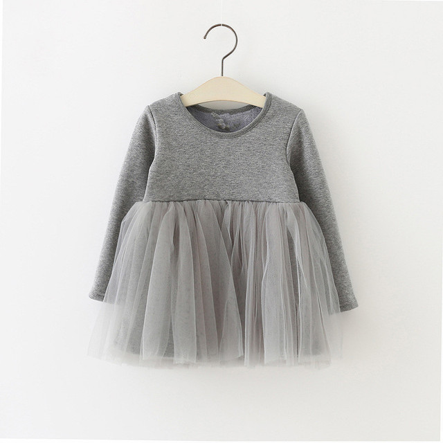 9d5f78e16 Vestidos de bebé de invierno de manga larga de lana para bebé recién nacido  vestido de