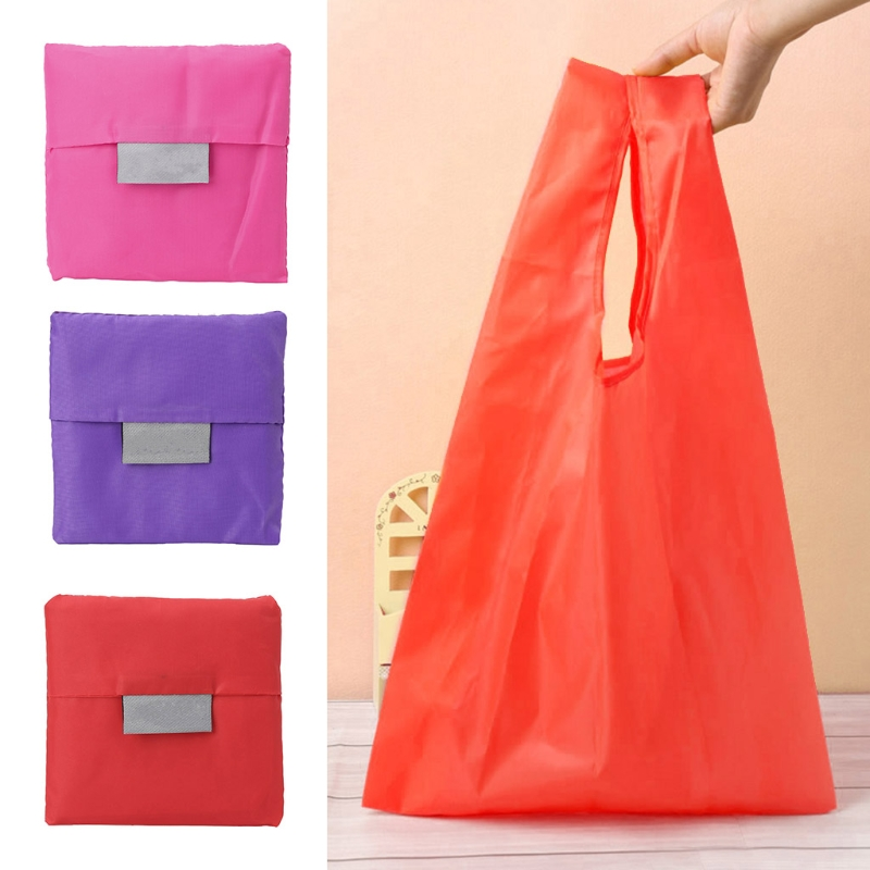 8 Color solid Shopping Bags Folding Large Capacity Handle Handbag Reusable Supermarket Grocery Casual -15
