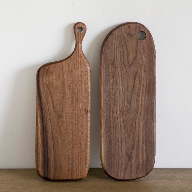 Block Board Solid Wood Board ~ Black walnut handmade wood chopping block solid