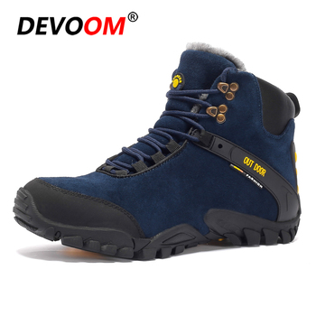 Men Hiking Shoes leather Shoes Climbing & Fishing Shoes New popular Outdoor shoes 2018 winter warm fur boots