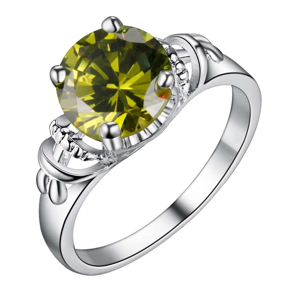 green zircon trendy Silver plated Ring Fashion Jewerly Ring Women&Men , /PMQQPGNV QKXBLIFU
