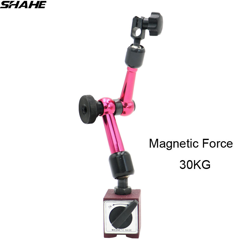 shahe Mini Universal Flexible Magnetic Base Holder Stand for indicator gauge Magnetic Force 30KG