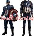 2016 High Quality Captain America Civil War Cosplay Costume Captain America Costume Adult Men Halloween Costume Steve Rogers