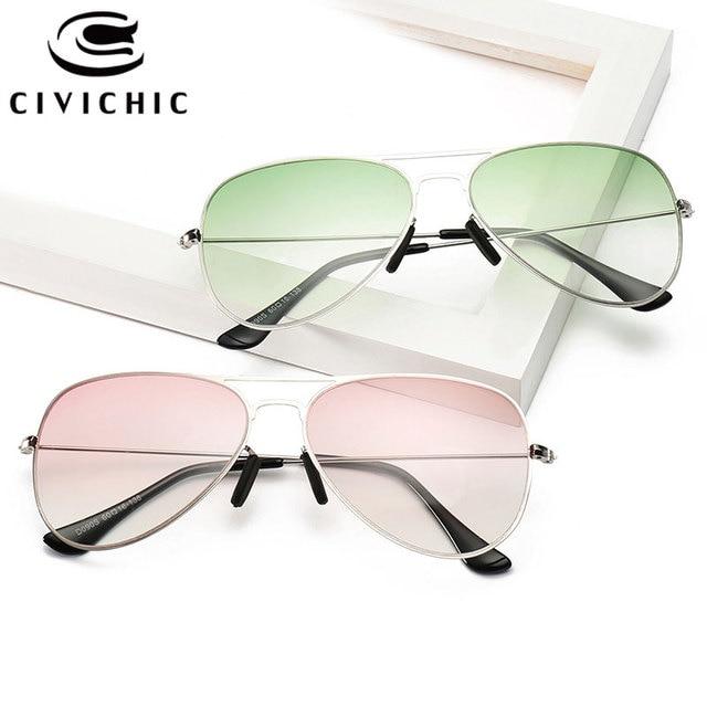 CIVICHIC Hot Trend Unisex Lensa Gradien Kacamata HD Kacamata Klasik katak  UV400 Gafas Oculos De Sol e29c86926d