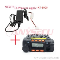 KT-8900 13.8V power supply + Mini car radio QYT KT-8900 136-174/400-480MHz dual band car transicever walkie talkie KT8900