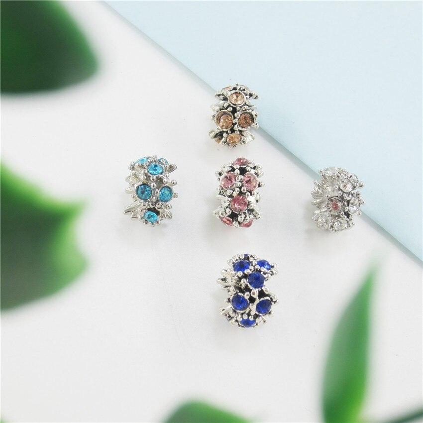 Explosion bracelet accessoires grand trou perles incrusté zircon DIY bijoux de protection de l'environnement PDLA04