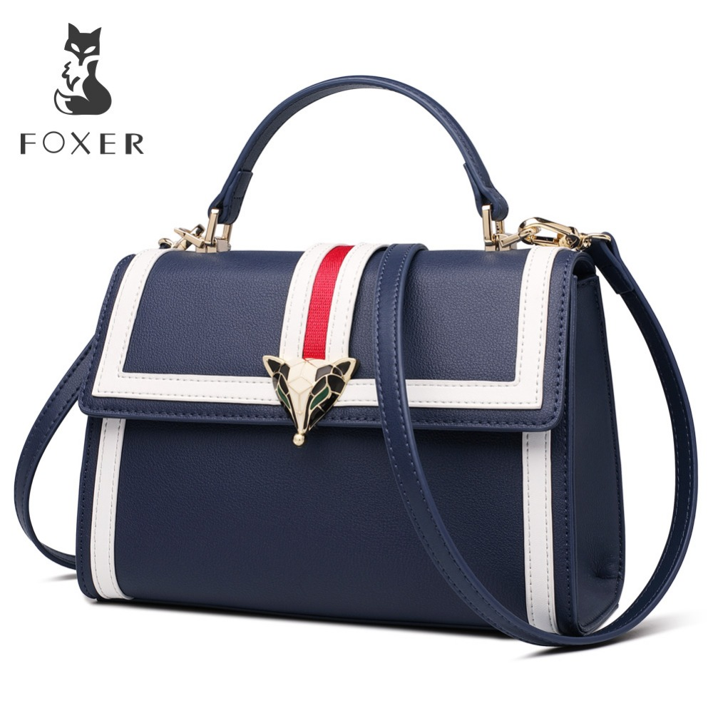 FOXER Brand 2019 New Design Office Gentlewoman luxury Stylish Shoulder Bags Totes Female Large Capacity Leather