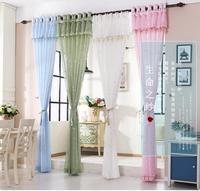 Curtain thin window screen fabric finished floor plane window simple balcony yarn