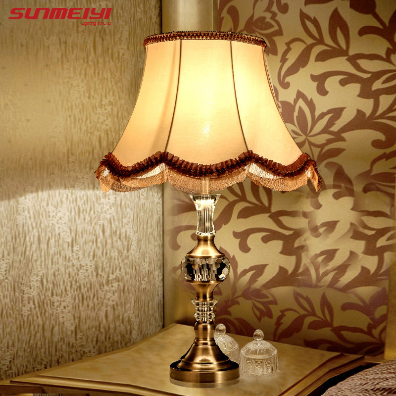 Кристалл настольная лампа украшения настольная лампа моды кровать-освещение моды стол ночники Кристалл Abajur