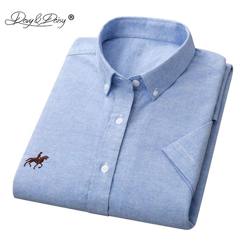 DAVYDAISY 2020 New Arrival Man Shirt 5XL 6XL Men Summer 100% Cotton Short Sleeved Fashion Causal Shirt Brand Men Clothes DS337