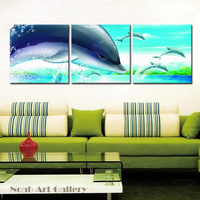 Dolphin Jumping Animal Modern Canvas Printing Wall Art For Home Decoration Living Room Cheap Price 3