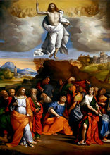 Garofalo: Ascension of Christ SILK POSTER Decorative painting  24x36inch garofalo фарфалле бантики 78 500 г