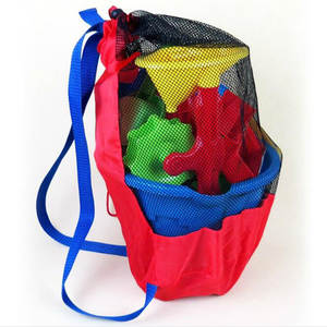 Mesh-Bags Sand-Toys Bathroom Baby Sports Kids Beach Children Water-Fun for Net Clothes-Towels-Backpacks